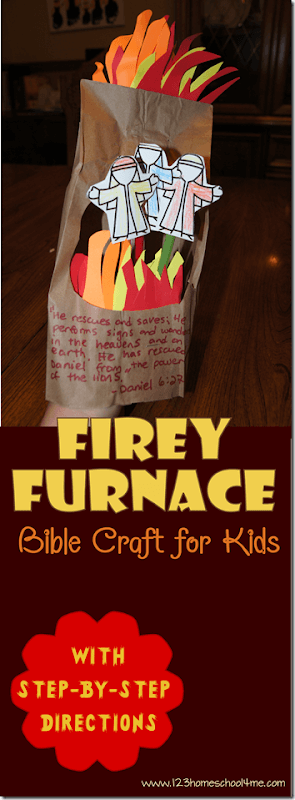 Looking fir a really cute fiery furnace craft to go along with your Sunday School lesson? This Shadrach Meshach and Abednego craft is such a fun Bible craft for toddler, preschool, pre k, kindergarten, first grade, 2nd grade, and 3rd grade students to go along with an Old Testament story on the book of Daniel.