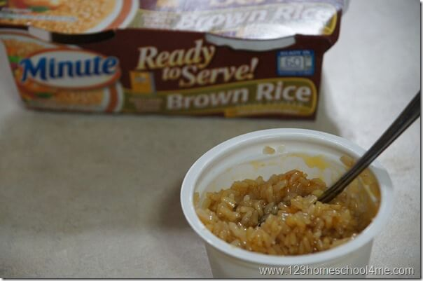 stir the apricot preesrves to coat all the minute rice