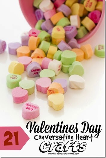 Conversation Heart Crafts and Kids Activities to celebrate Valentines Day