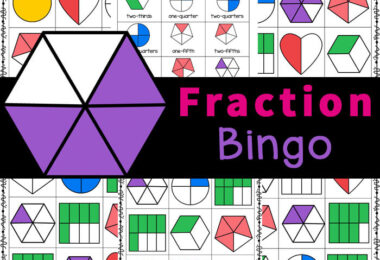 Practice identifying fractions with this FUN fraction BINGO! Free Printable hands-on fraction activity for kids of all ages.