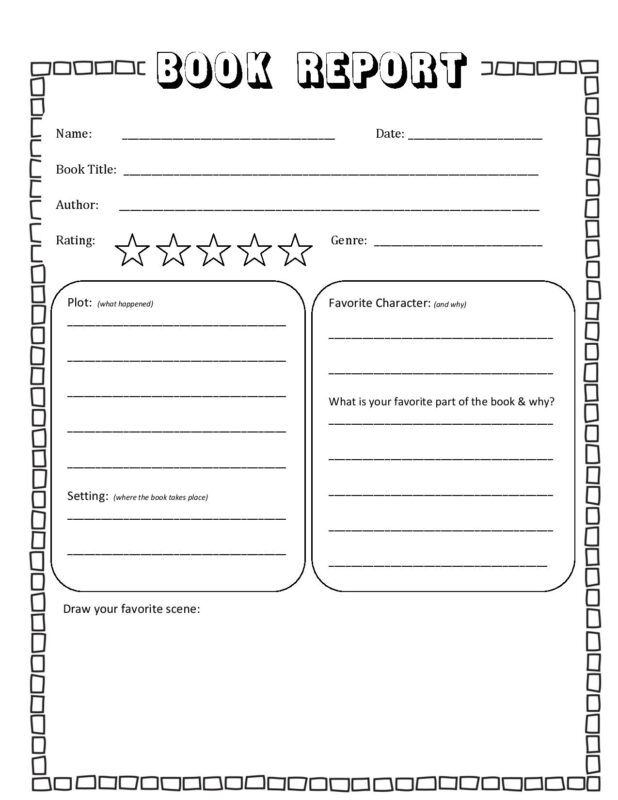 download the Free Book Report Template for kindergarten, first grade, 2nd grade, 3rd grade, 4th grade, 5th grade, and 6th grade students.