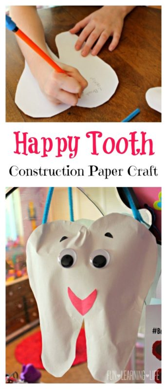 tooth craft with construction paper