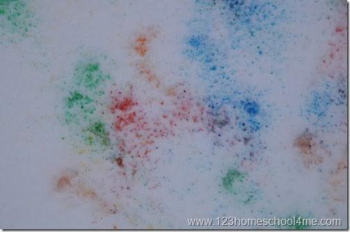 Vibrant Snow Painting Kids Activity