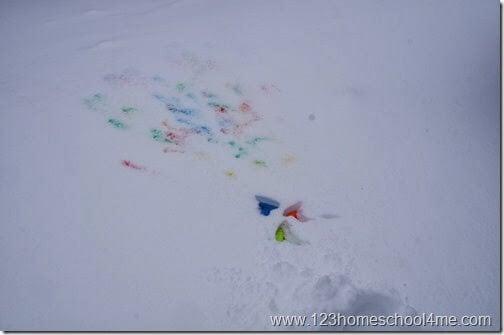 Squirt Gun Snow Play