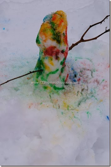 Painted Snowman Kids ACtivity