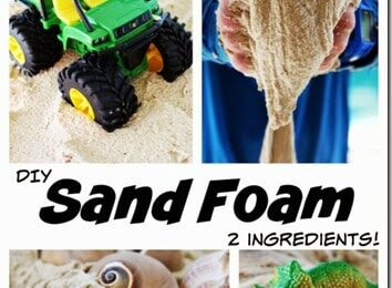 Make Sand Foam with 2 Ingredients