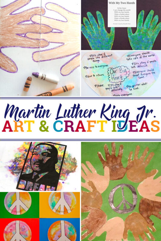 Martin Luther King Crafts Kids can explore concepts such as equality, peace, diversity, and dreams as well as the history and story of Martin Luther King Jr with these martin luther king jr crafts ideas. When kids do things with their hands like these mlk crafts, they are more likely to remember what they learned!