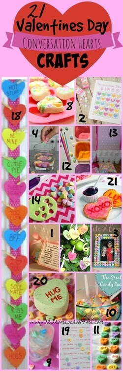 Valentines Day Crafts - 21 conversation hearts crafts for kids of all ages