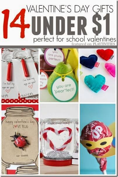 Valentines Day Gifts - 15 homemade valentines for under $1 great valentines for kids classmates