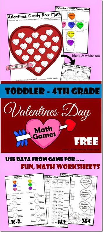 Valentines Math With Conversation Hearts 123 Homeschool 4 Me