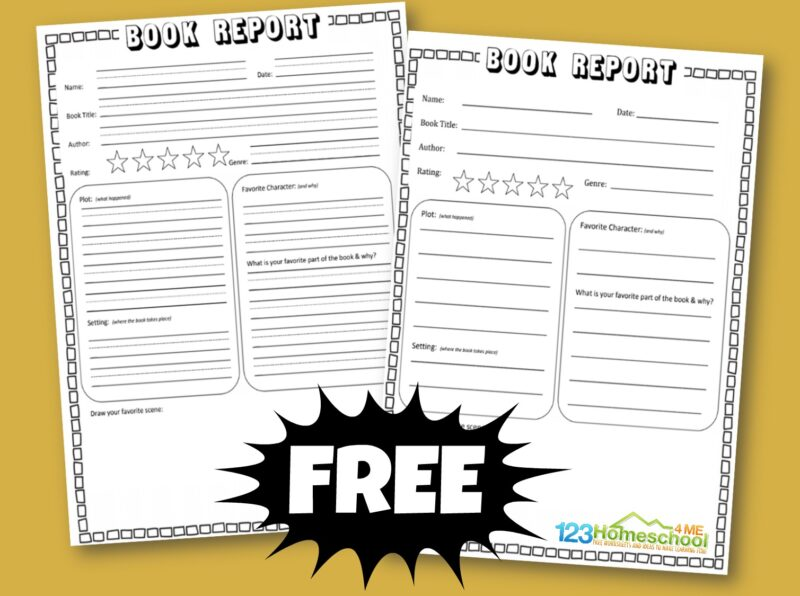 book report template perfect for kindergarten, first grade, 2nd grade, 3rd grade, 4th grade, and 5th grade students