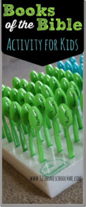 Learning the books of the bible with this fun spoons of the Bible game