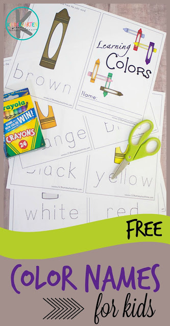 Free Learning Color Words Printable Book - 32+ Color Name Worksheets For Kindergarten Pictures