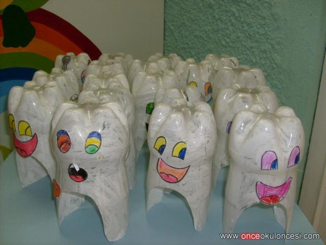 plastic tooth craft