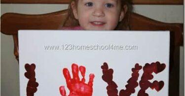 Sticker Hand Art Valentines Day Craft