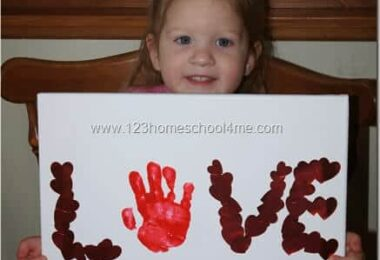 Sticker Hand Art Valentines Day Craft