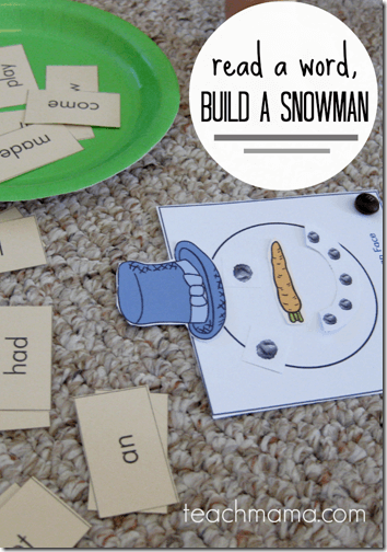 Snowman Reading Game
