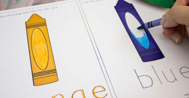 Color Words for Kids Printable