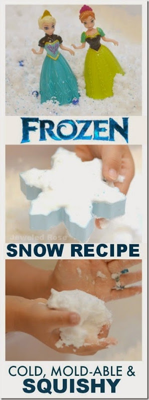 Disney Frozen Snow Recipe for Play - What a fun kids activity for Toddler, Preschool, and Kindergarten!