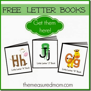 Rhyming Alphabet Letter Books - FREE printable mini book for each letter of the alphabet from A to Z for toddler, preschool, and kindergarten age kids