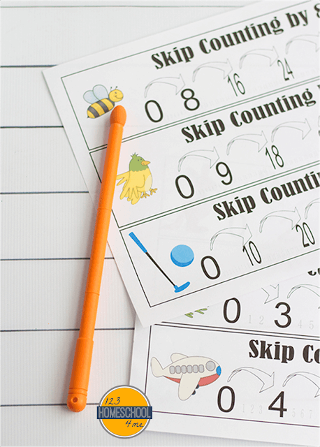 skip counting poster, skip counting anchor chart