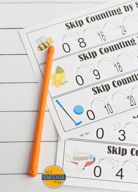 skip counting poster, skip counting anchor chart