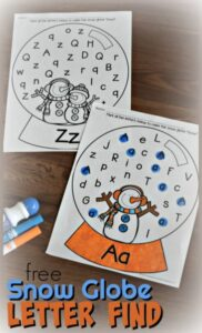 snowman printables winter letter find