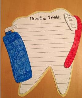 teeth writing