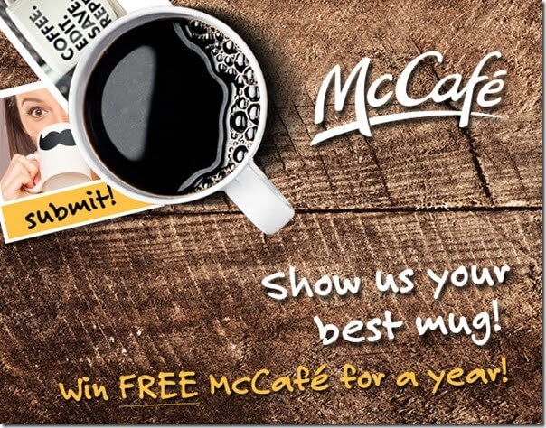 win free McCafe Coffee for a year