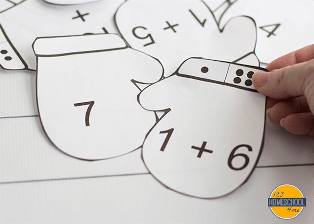 winter math activity for preschool, kindergarten, first grade