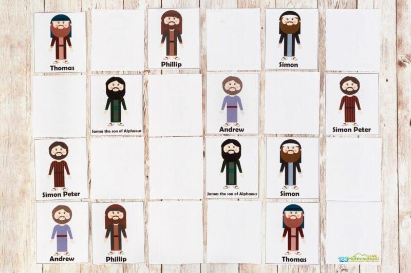 12 disciples activities