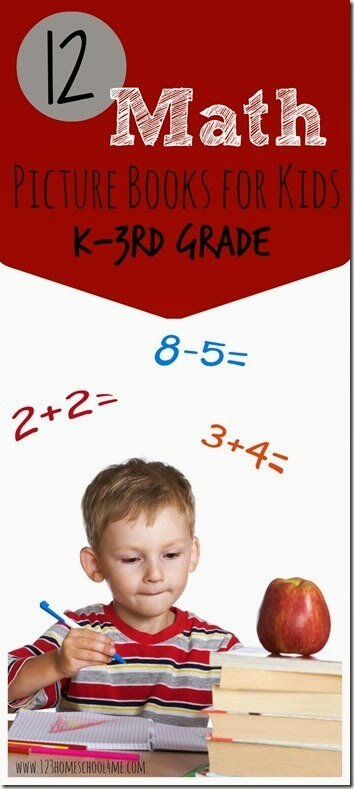 12 FUN Math Picture Books for Kids Kindergarten, 1st grade, 2nd grade, and 3rd Grade. These are a fun way for kids to grasp and picture different math concepts in a very different way than math textbooks teach!