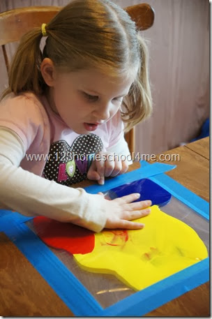 Color mixing without all the mess for preschool and toddlers