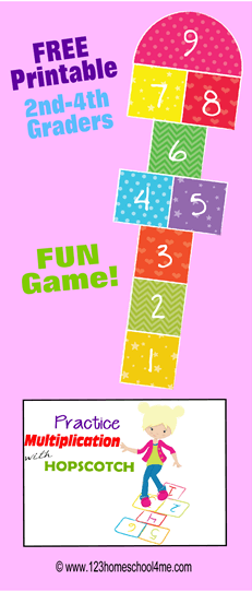 Is your child tired of drilling their multiplication tables with multiplication worksheets and multiplication flashcards? Multiplication hopscotch is a fun printable multiplication game that elementary school kids from 3rd grade, 4th grade, 5th grade, and 6th grade students will have fun playing by themselves formultiplicatin practice. Simply download free multiplication math games pdf file with to have fun while learning and reviewingmath drills multiplication.