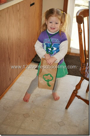 St. Patrick's Day Color Hunt for Toddlers