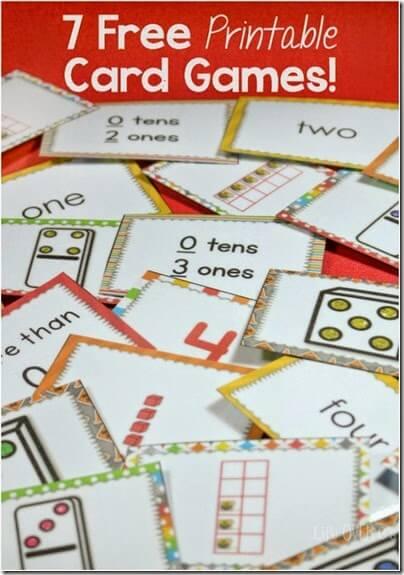 7 Card Math Games
