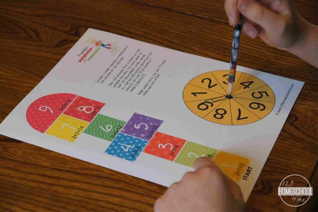 Multiplication Facts Games is a fun hopscotch math game for kids to practicemultiplication by themselves or with a friend in grade 3 math, grade 4 math, grade 5 math