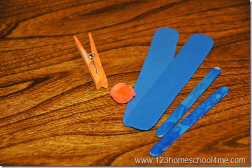 Supplies for making an airplane craft