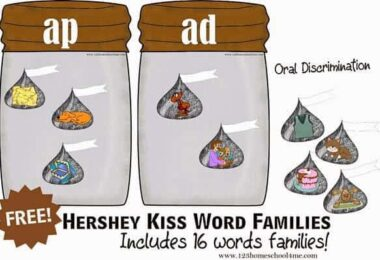 Word Family Hershey Kiss Sorting Activity