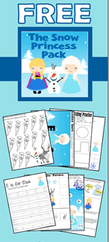 Free Frozen Worksheets for Preschoolers
