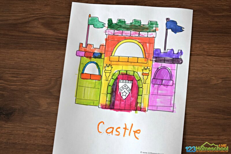 castle-coloring-sheets