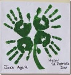 clover hand art