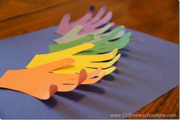 construction paper rainbow craft for preschoolers