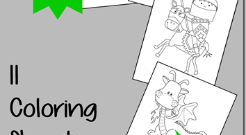 FREE Castle Knight Coloring Sheets
