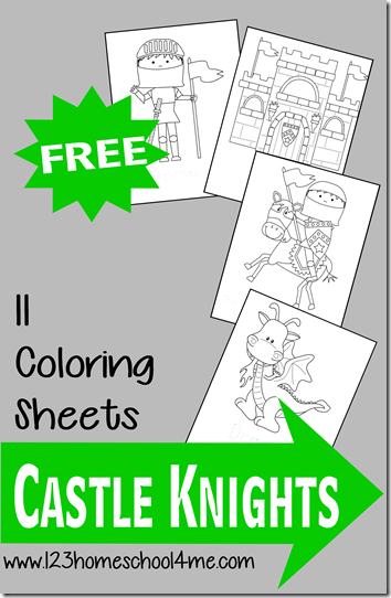 Free Castle Knight Coloring Sheets 123 Homeschool 4 Me