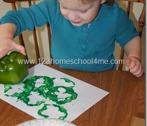 Clover Stamping with Peppers