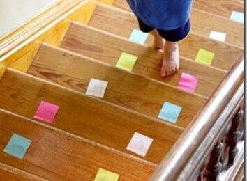 Silly Sight Words Practice on the Stairs