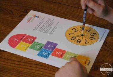 Hopscotch Multiplication Game