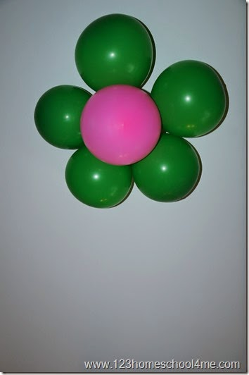 flower balloon arrangement for girl fairy party