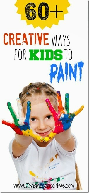 60+ Creative Ways for Kids to Paint - so many really creative, unique kids activities involving paint! Perfect for PreK-6th grade.